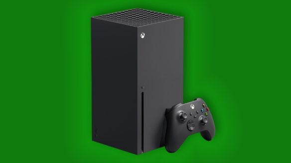 Xbox Series X - konsola na ezielonym tle