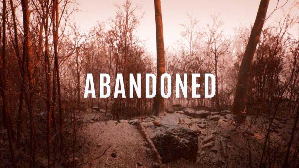 Abandoned - zrzut ekranu z logo gry