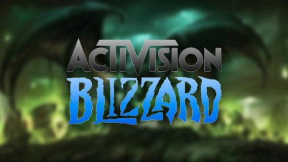 Activision Blizzard - logo na tle World of Warcraft