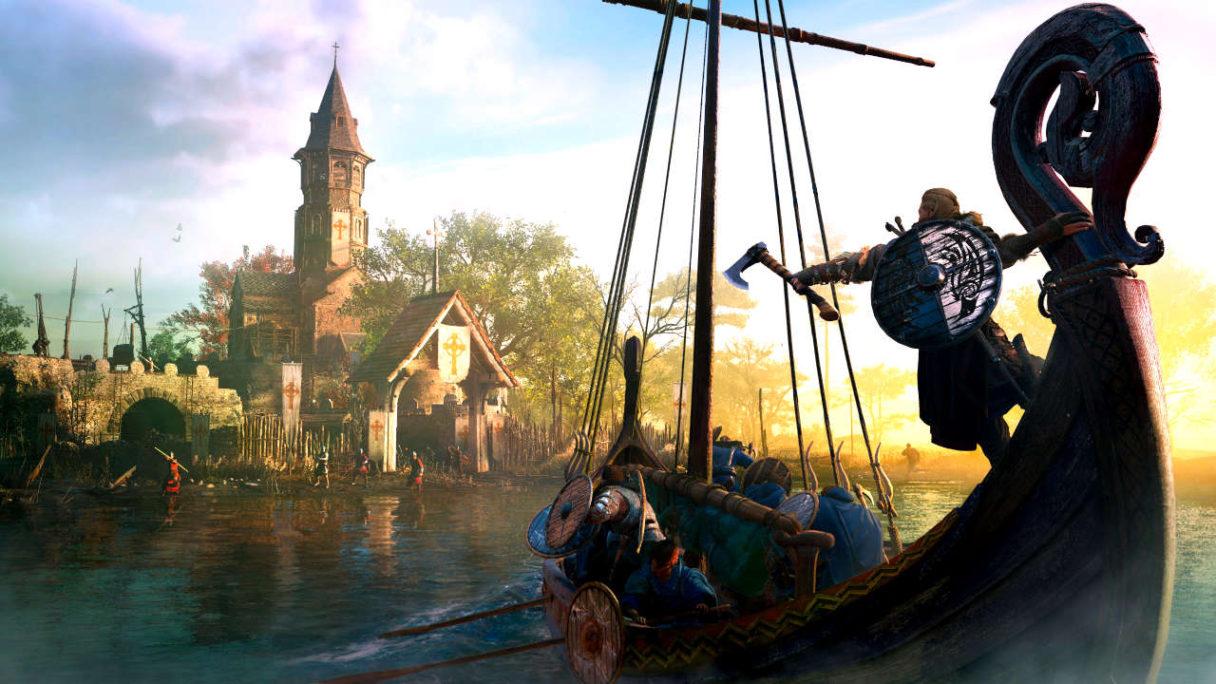 Assassin's Creed Valhalla - atak na wioskę przy wodzie