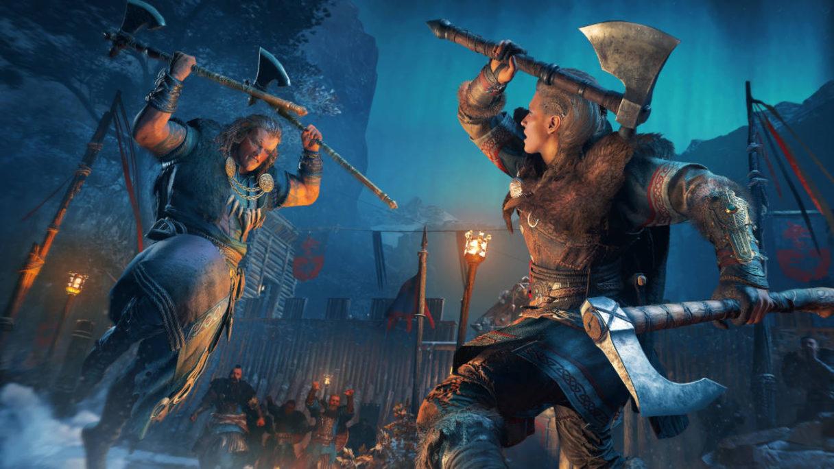Assassin's Creed Valhalla - Eivor walczy z przeciwnikiem na śmierć i życie