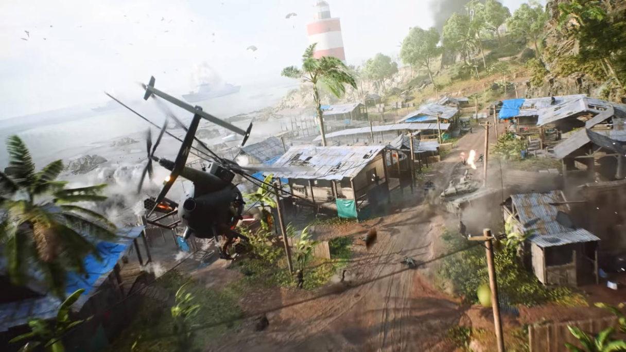 Battlefield 2042 - helikopter tryb Portal