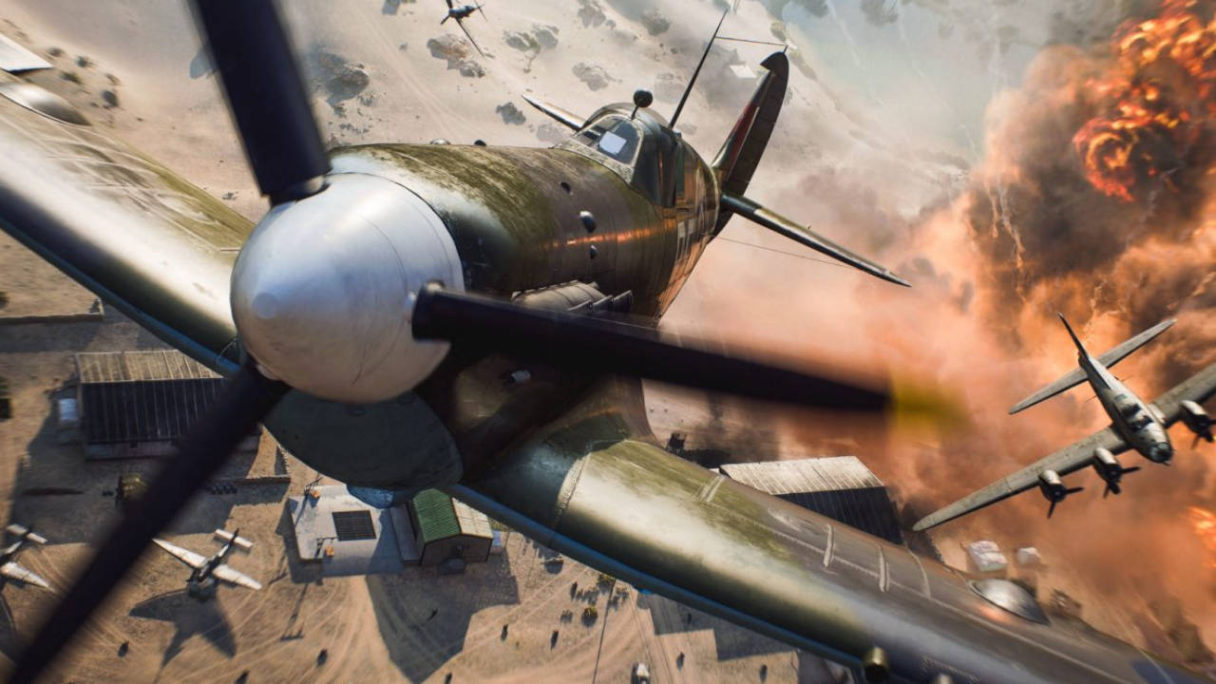 Battlefield 2042 - lecące samoloty i wybuch w tle