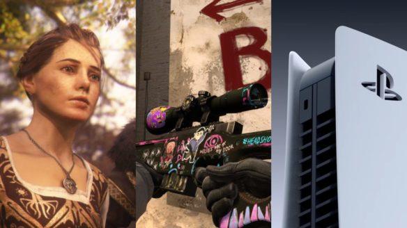 Bohaterka z A Plague Tale: Innocence, Skin do AWP z CS:GO, zbliżenie na PS5