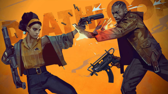 Bohaterowie Deathloop strzelają do siebie - gra zostanie ponownie pokazana podczas zbliżającego się State of Play