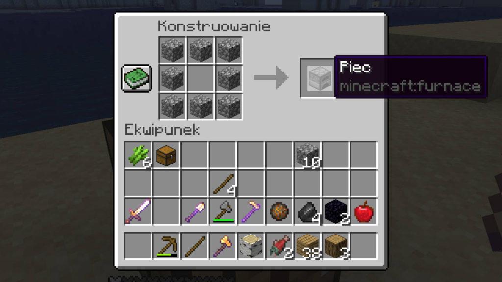 Minecraft - instrukcja wytwarzania pieca