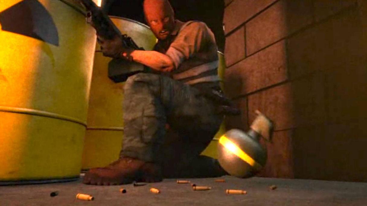 CS:GO - terrorysta jest zdziwiony widząc odbezpieczony granat obok niego