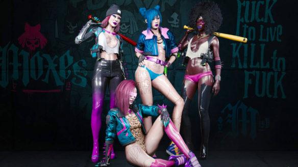 Cyberpunk 2077 - kobiece bohaterki z gry w seksownych strojach