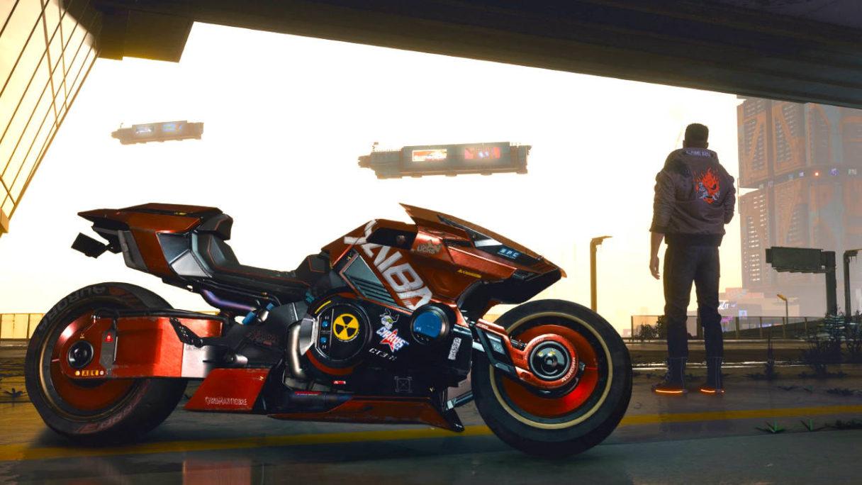 Cyberpunk 2077 - Vi i motocykl