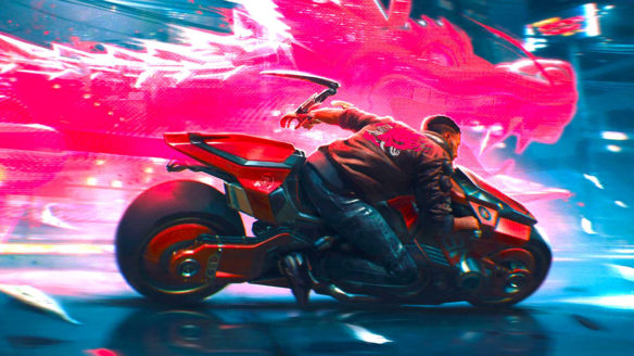 Cyberpunk 2077 - Vi na motocyklu