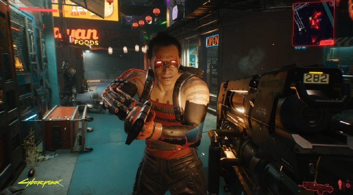 Cyberpunk 2077 przeciwnik z Maelstrom