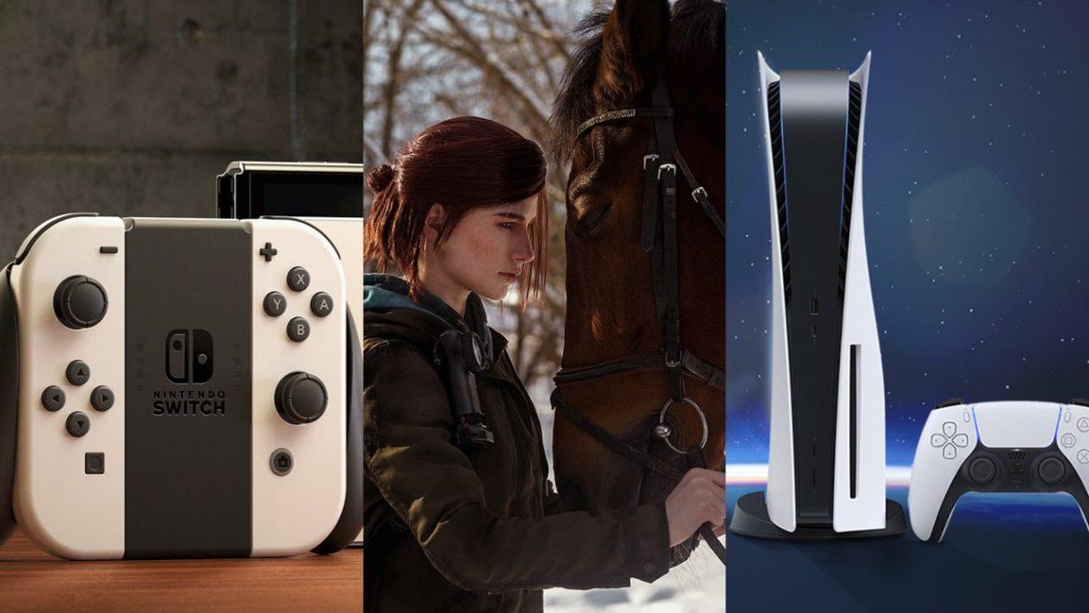 DoGRYwka - konsola Nintendo Switch OLED, cosplay Ellie z koniem i konsola PS5 z padem Dualsense