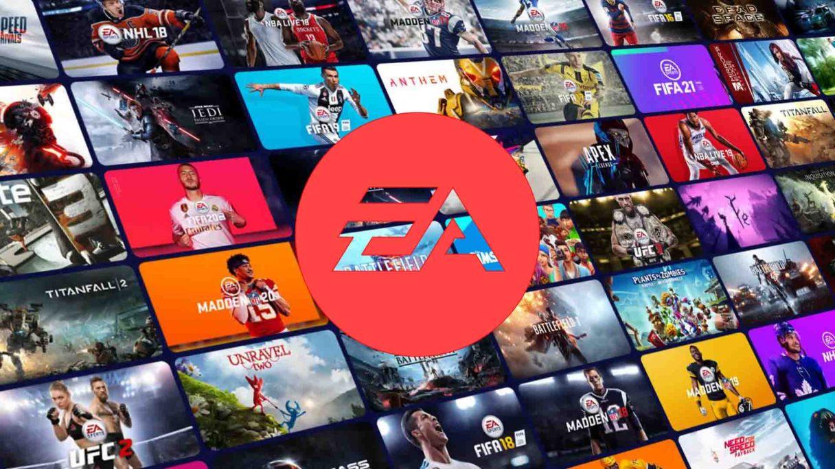 EA - logo na tle gier