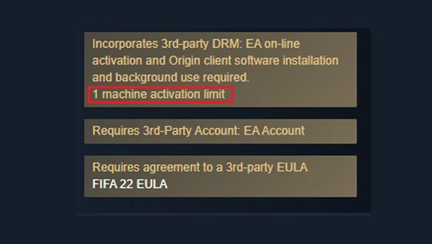 FIFA 2022 jedna instalacja gry na PC