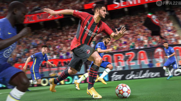 FIFA 22 od EA - piłkarze walczą o świetny wynik meczu