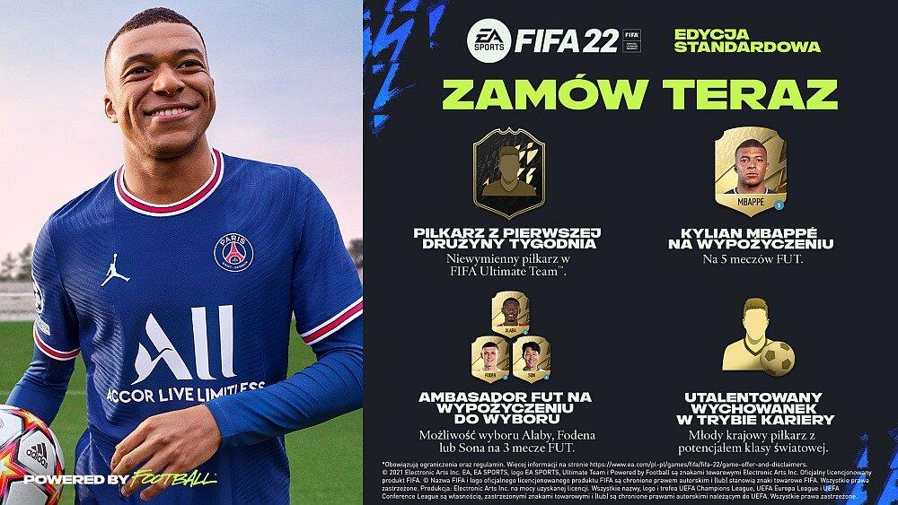 FIFA 22 - bonusy za zamówienie przedpremierowe edycji standardowej