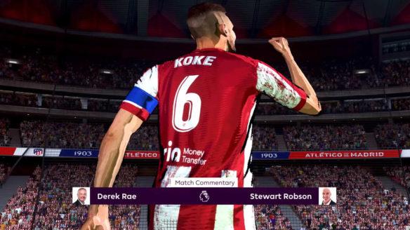 FIFA 22 - wizerunek piłkarza na trybunach