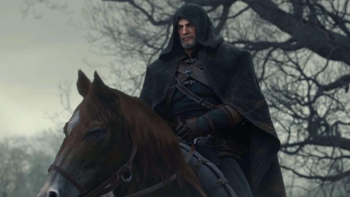 Geralt na koniu - Wiedźmin 3 Dziki Gon
