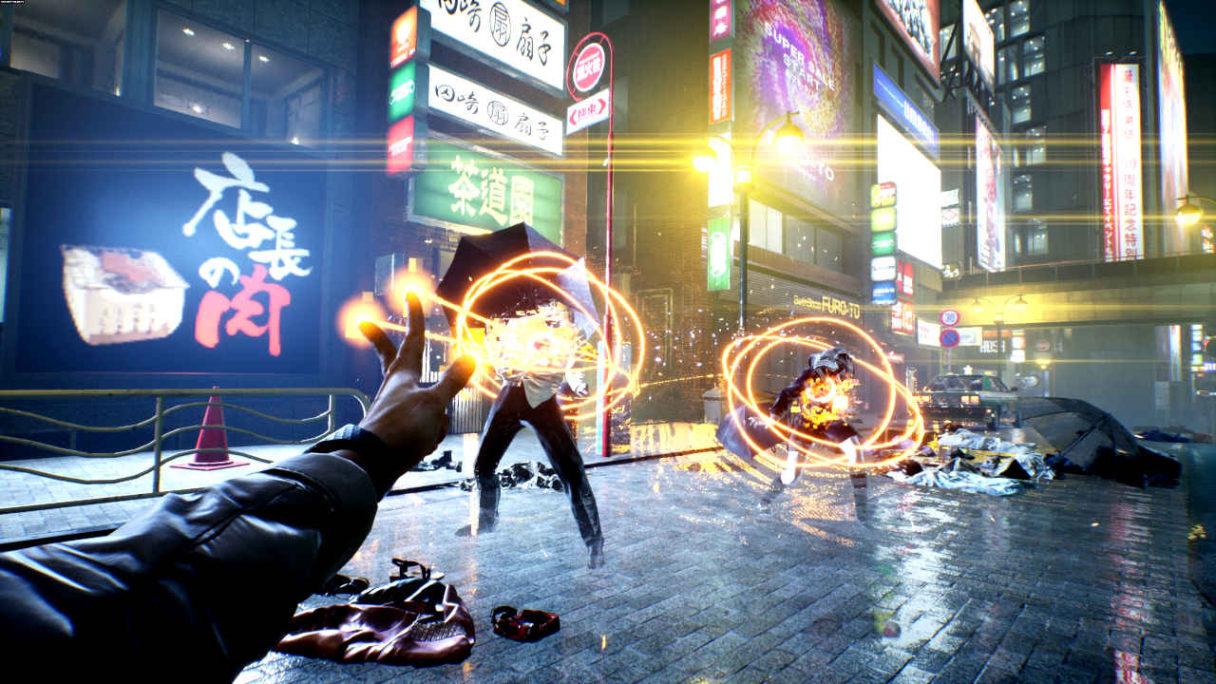 Ghost Wire Toky - główny bohater walczy z japońskimi zjawami