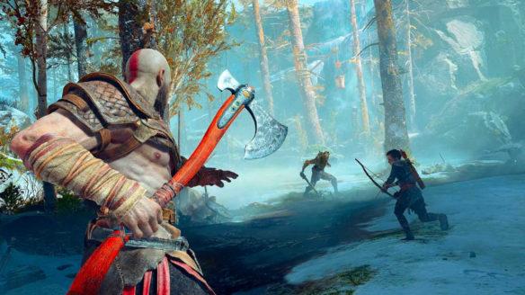 God of War - Kratos i jego syn walczą