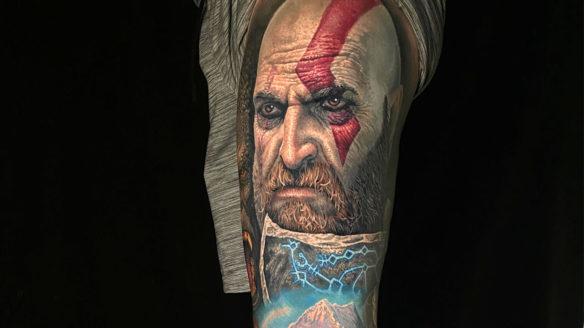 God of War - tatuaż nawiązujący do gry