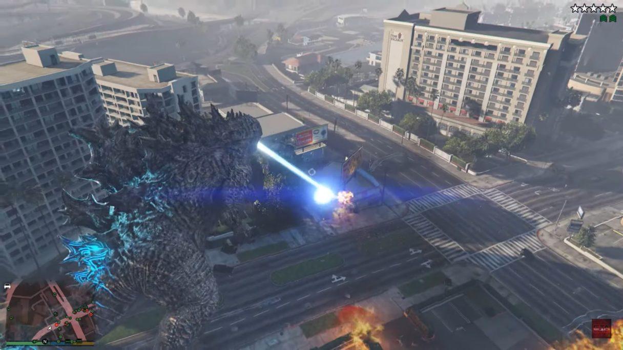 GTA V mod Godzilla