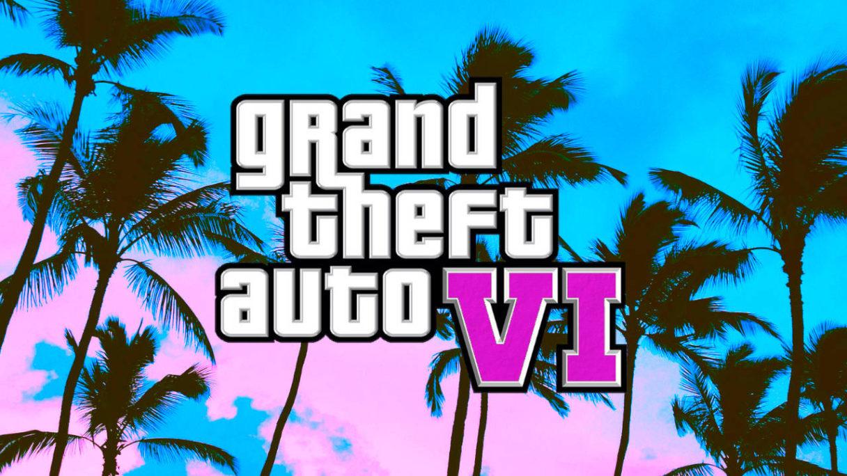 GTA VI logo na tle palm