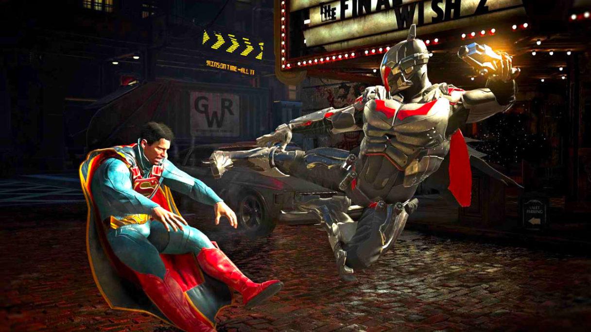 Injustice 3 - kadr z Injustice 2 z Supermanem, który dostaje łomot od Batmana