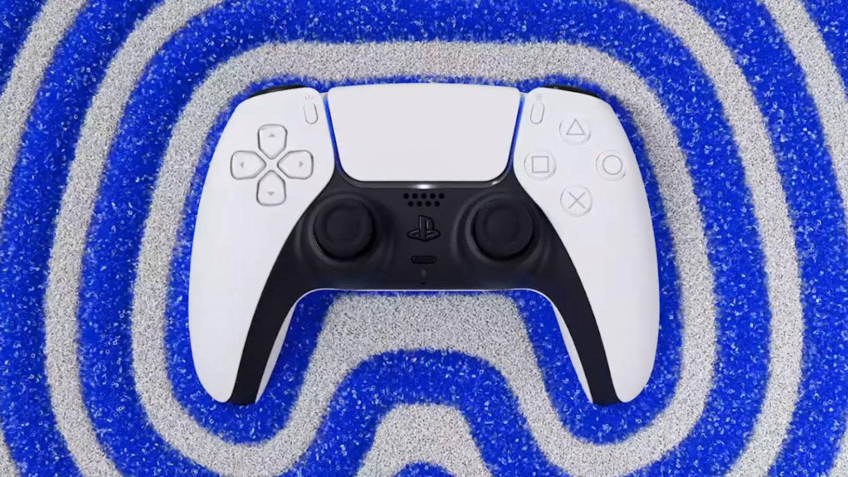 Kontroler DualSense, który wibruje