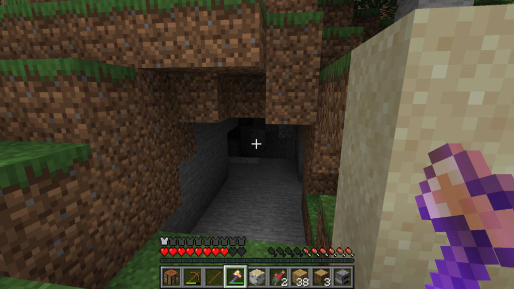 Minecraft - wejście do jaskini