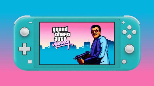 Nintendo Switch Lite - z uruchomionym GTA Vice City