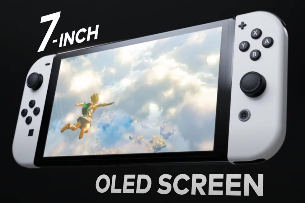 Nintendo Switch OLED - grafika przedstawiająca większy ekran konsoli
