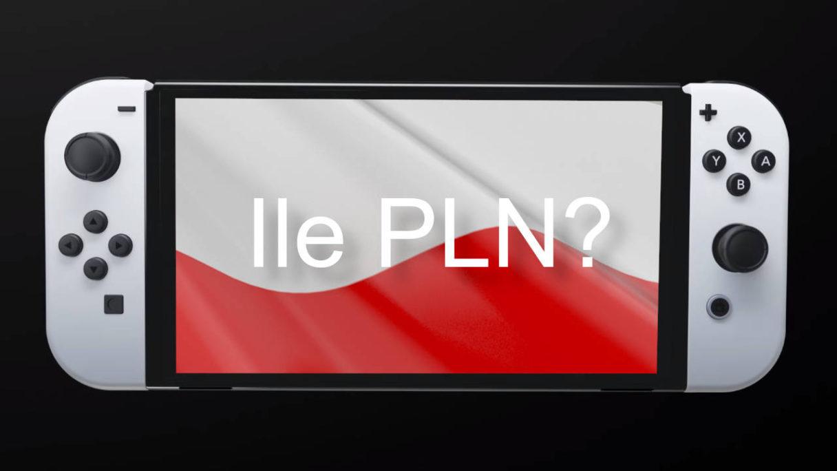 Nintendo Switch OLED - grafika z polską flagą na konsoli
