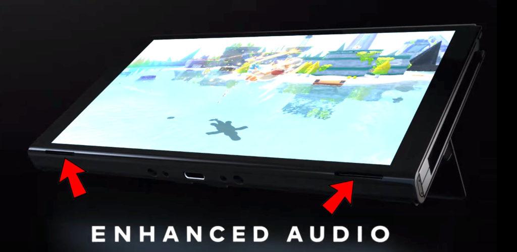 Nintendo Switch OLED - nietypowe umiejscowienie głośniczków