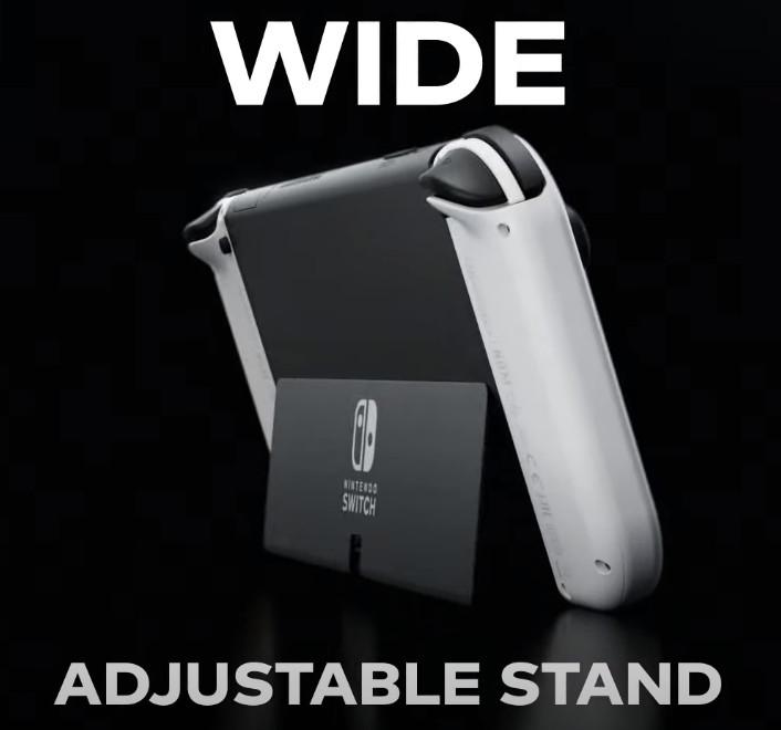 Nintendo Switch OLED - nowa, stabilna podpórka