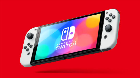 Nintendo Switch OLED - grafika pokazująca konsolę