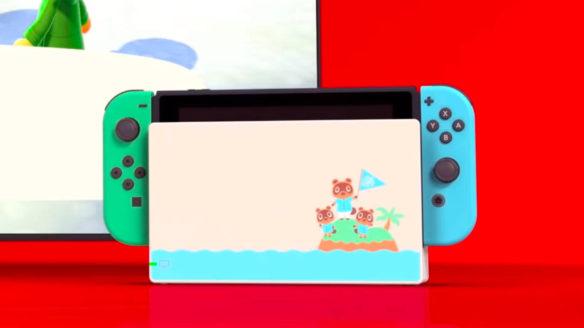 Nintendo Switch w docku - edycja Animal Crossing