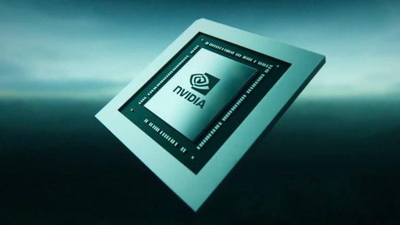 Nvidia chip z logo firmy