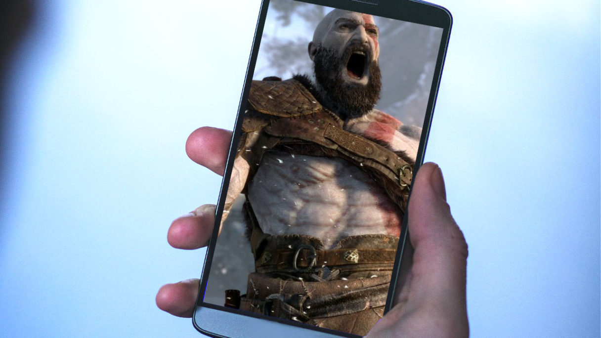 PlayStation - smartfon z grafiką God of War - Kratos