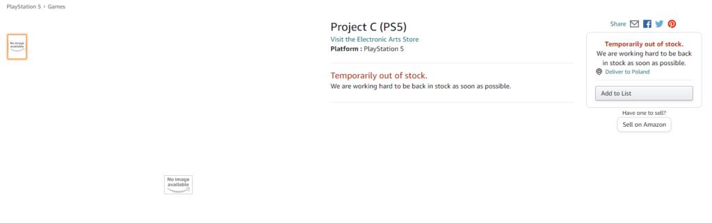 Project C od EA na Amazon