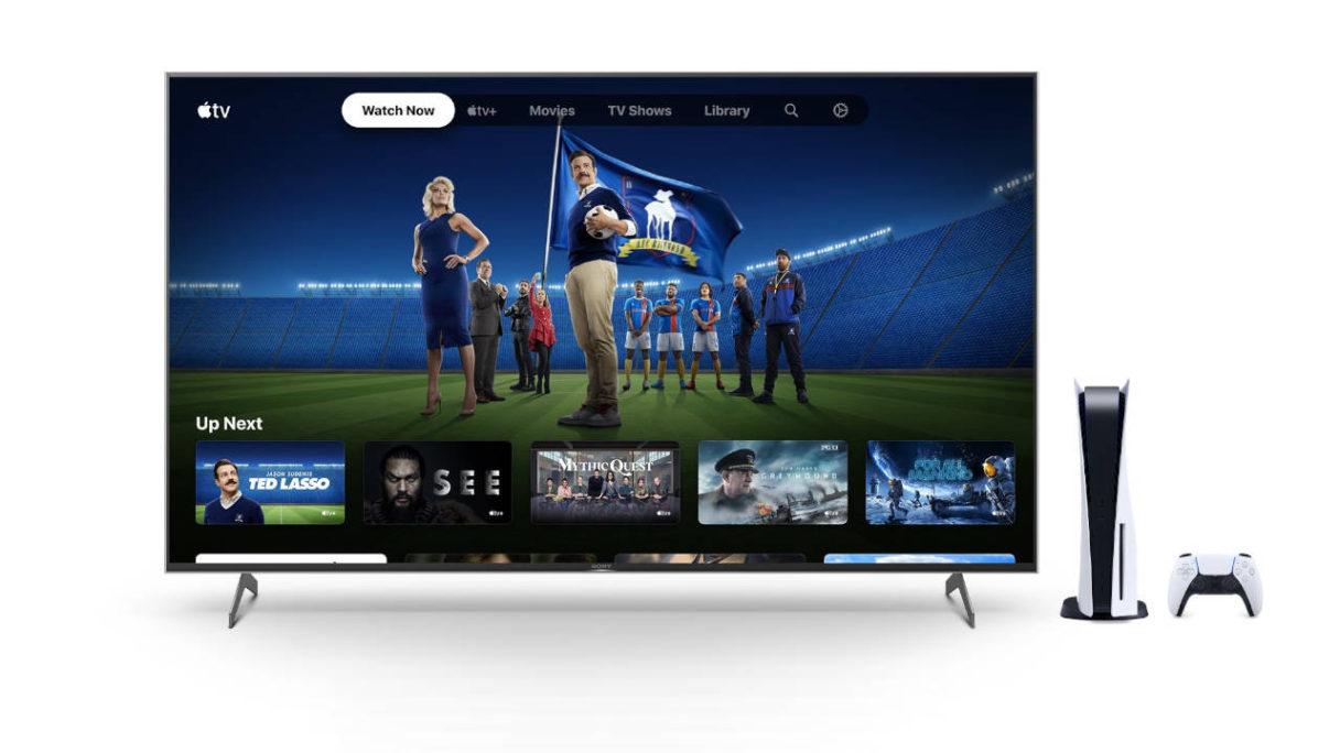PS5 i telewizor z Apple TV+
