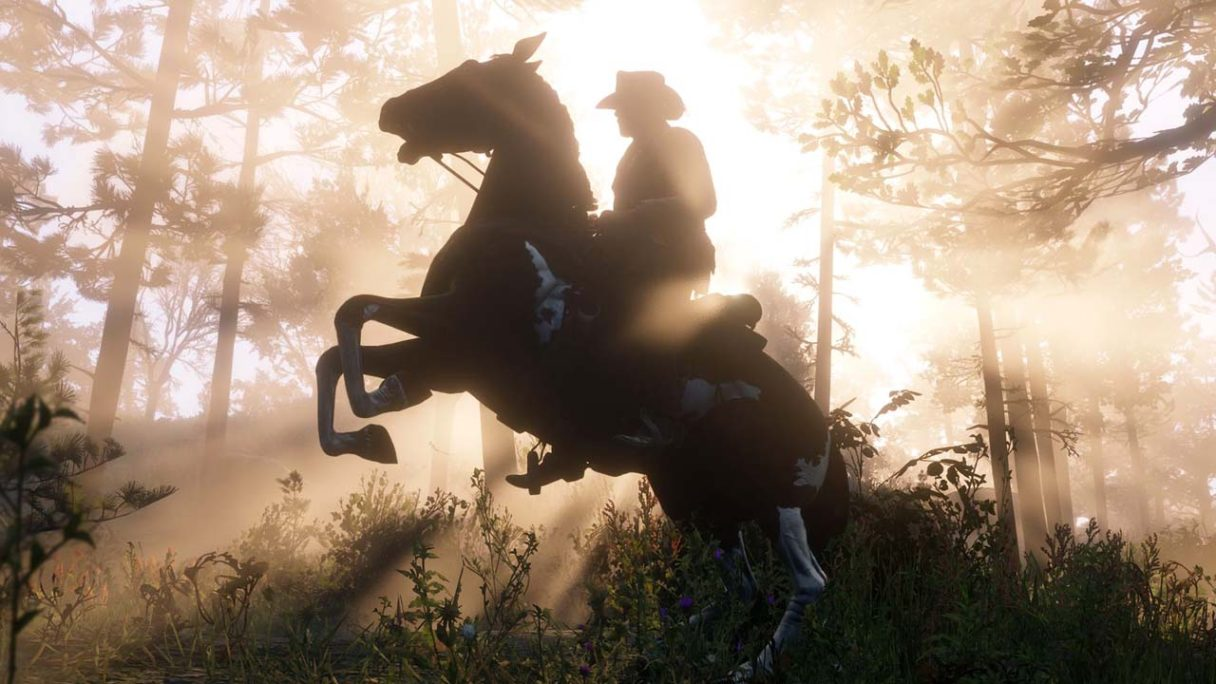 Red Dead Online - postać na koniu