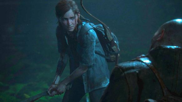The Last of Us Part II - Ellie walczy z przeciwnikiem