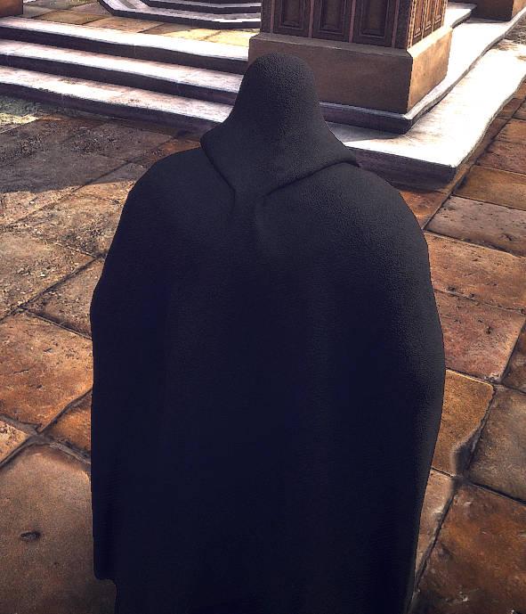 Wiedźmin 3 Dziki Gon - Geralt w pelerynie