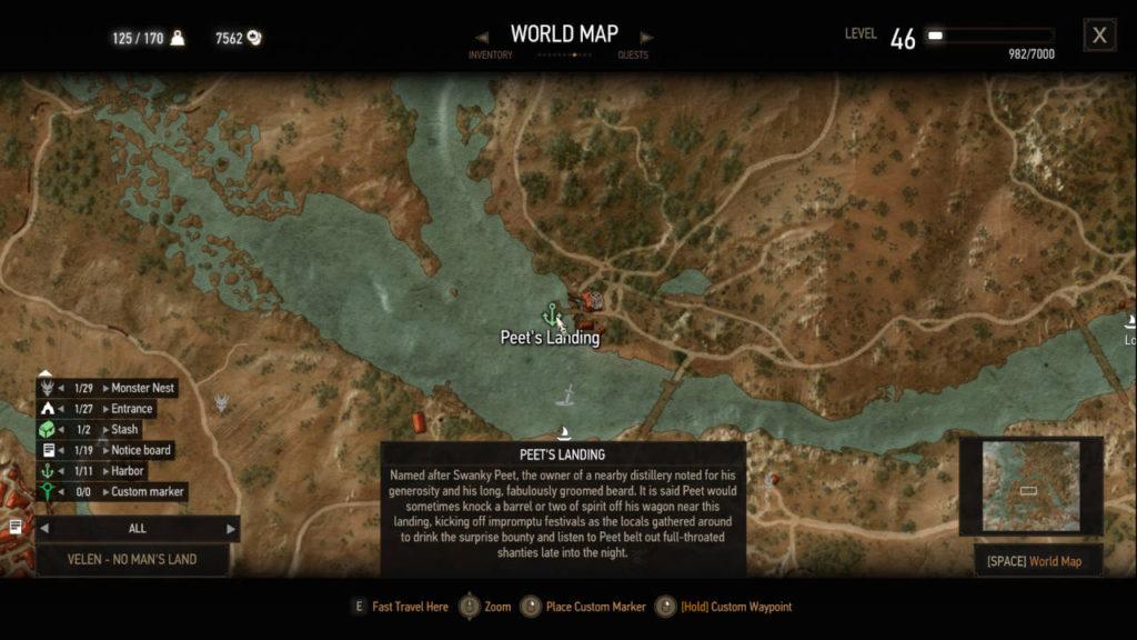 Wiedźmin 3 Dziki Gon - poprawiony opis i nazwa portu w grze dzięki modyfikacji Harbor Names Restored