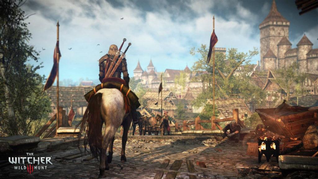 Geralt na Koniu w mieście