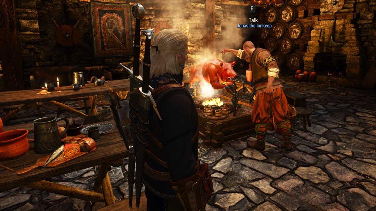 Wiedźmin 3 - screenshot z moda Restored Content - Omelet Quest od paulr0013