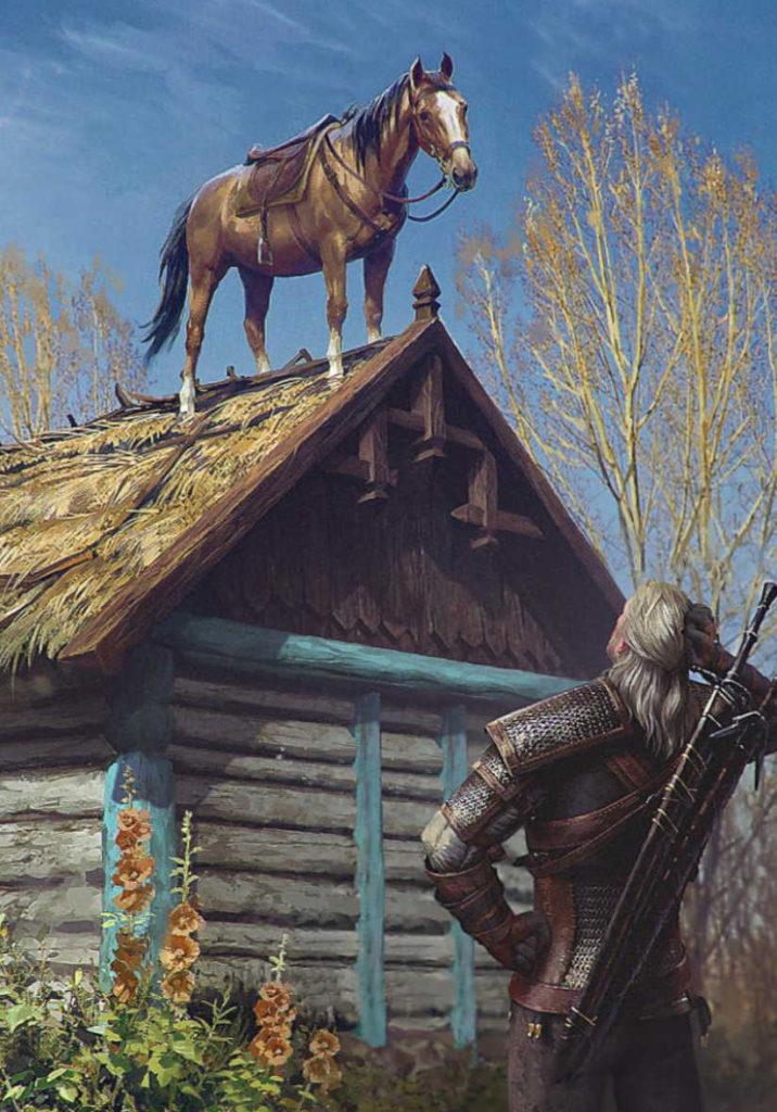 Wiedźmin 3 - Płotka na dachu