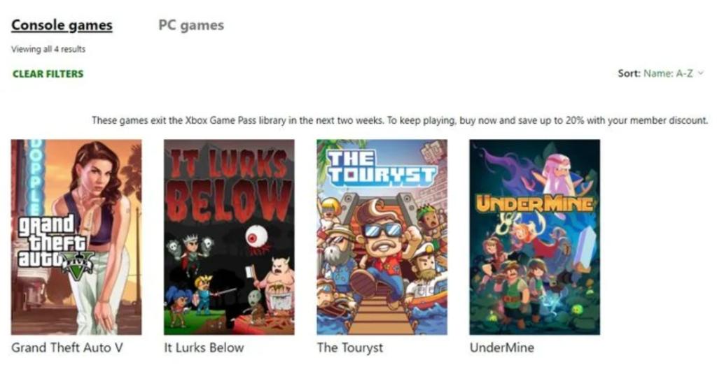 Xbox Game Pass - GTA V wkrótce zniknie