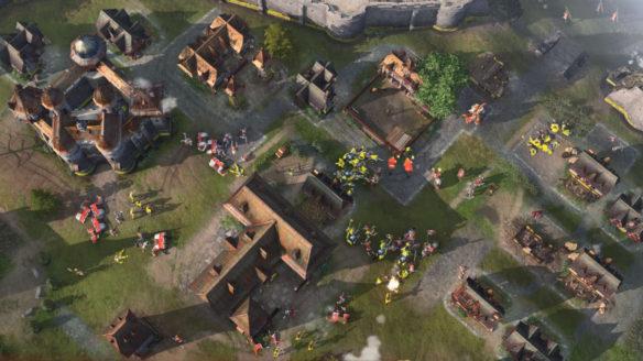 Age of Empires IV - kadr z walki z nowego gameplay'u